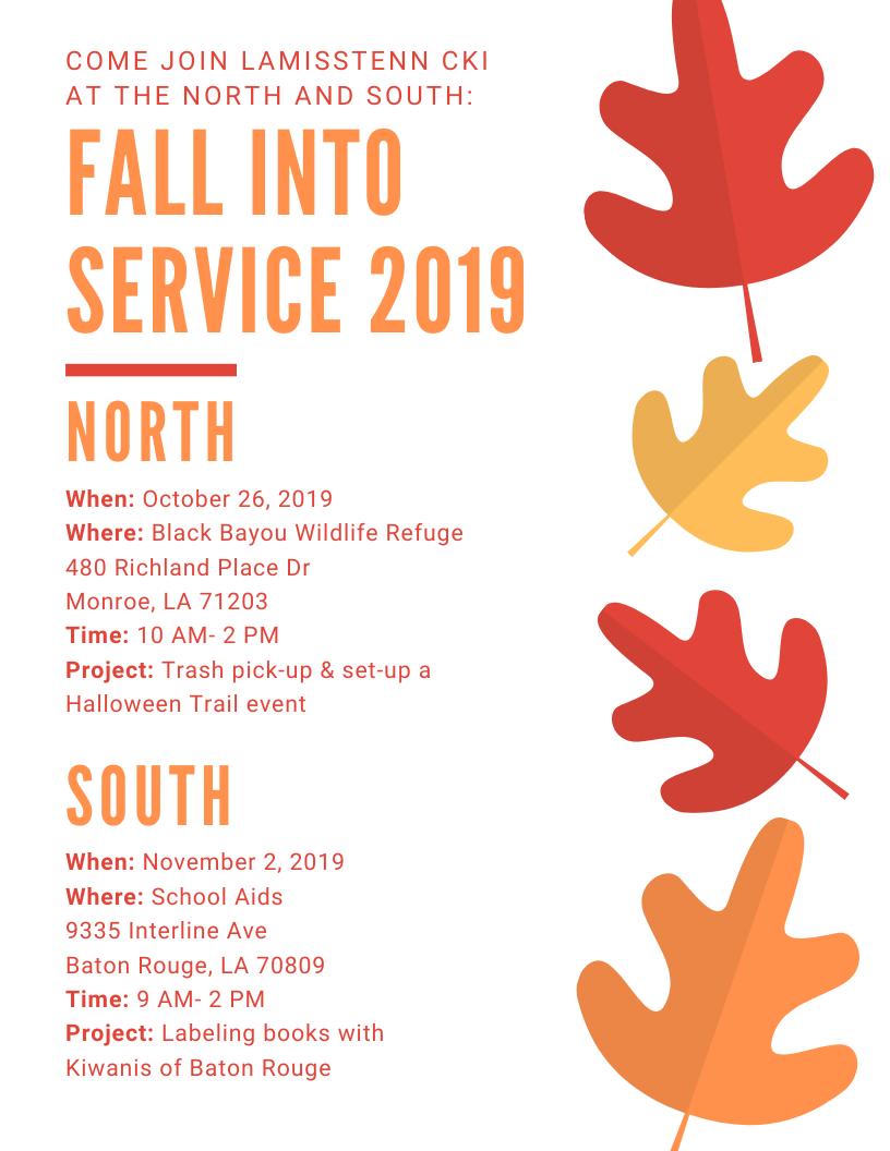 Fall Into Service 2019